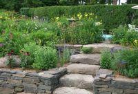 Rock Garden Ideas Stone Photograph   Raised bed garden near