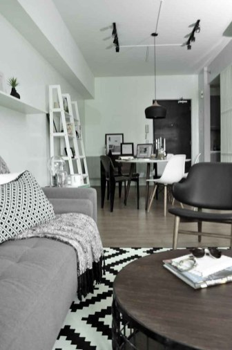 Monochromatic One-Bedroom Condo
