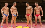 Four Speedo Wrestlers