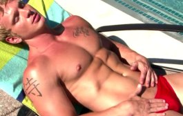 College Guy Speedo Tanning