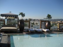 Pool Area Sls Hotel Beverly Hills Gayot'