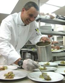 Smiling Chef Karim Razgallah Plating Cannelloni