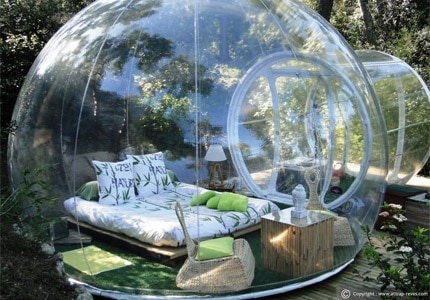 A bubble accommodation at Attrap'Rêves Allauch in France