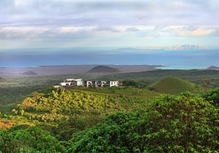A view of Pikaia Lodge on Santa Cruz Island, Galapagos