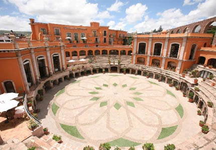The restored 19th-century bullfighting ring at Quinta Real Zacatecas in Mexico