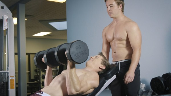Corbin Fisher: Gym rats Rocky and Jace works out every muscle.