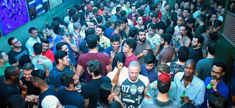 Galeria Café gay club in Rio
