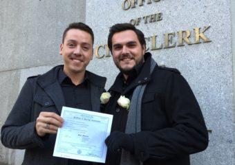 Chris and Larry New York Wedding