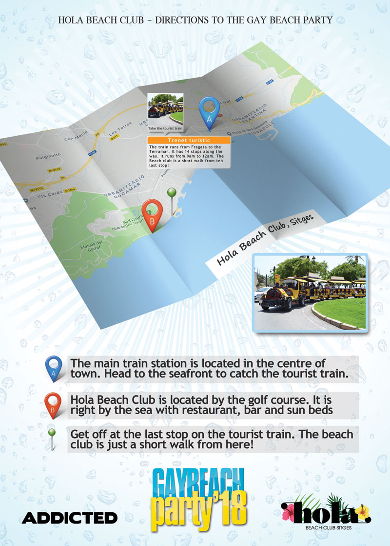 Directions to Hola Beach Club