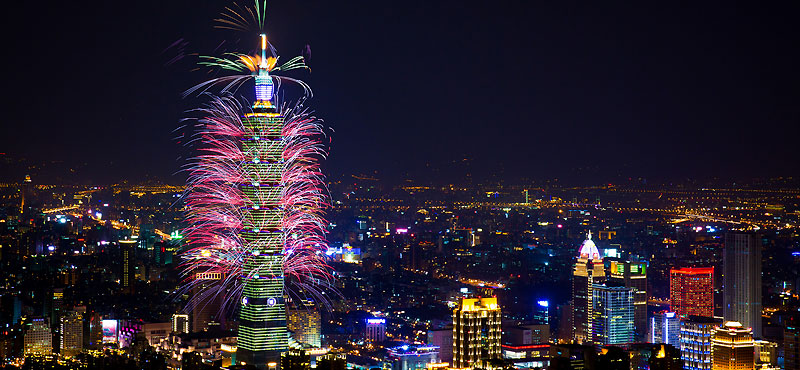 Taipei New Years Eve Fireworks