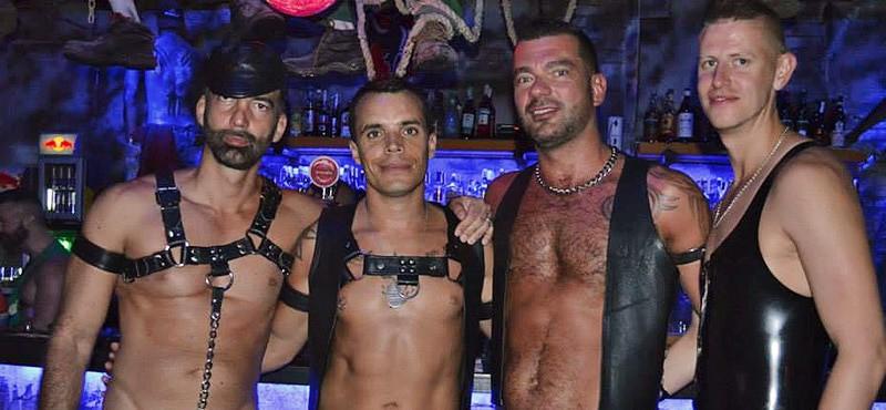 Leather guys at Maspalomas Fetish Week