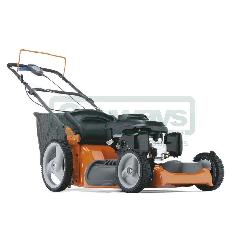 medium resolution of husqvarna r53sv petrol self propelled four wheeled lawnmower