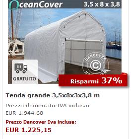 Tenda grande OceanCover 3,5 x 8 x 3 x 3,8 m M