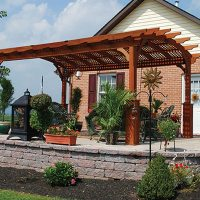 Arched Hearthside Pergolas | Country Lane Gazebos