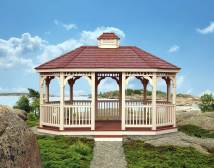 Vinyl Single Roof 8-sided Oval Gazebos
