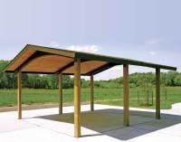 Wood Single Roof Savannah (Rectangle) Pavilions ...