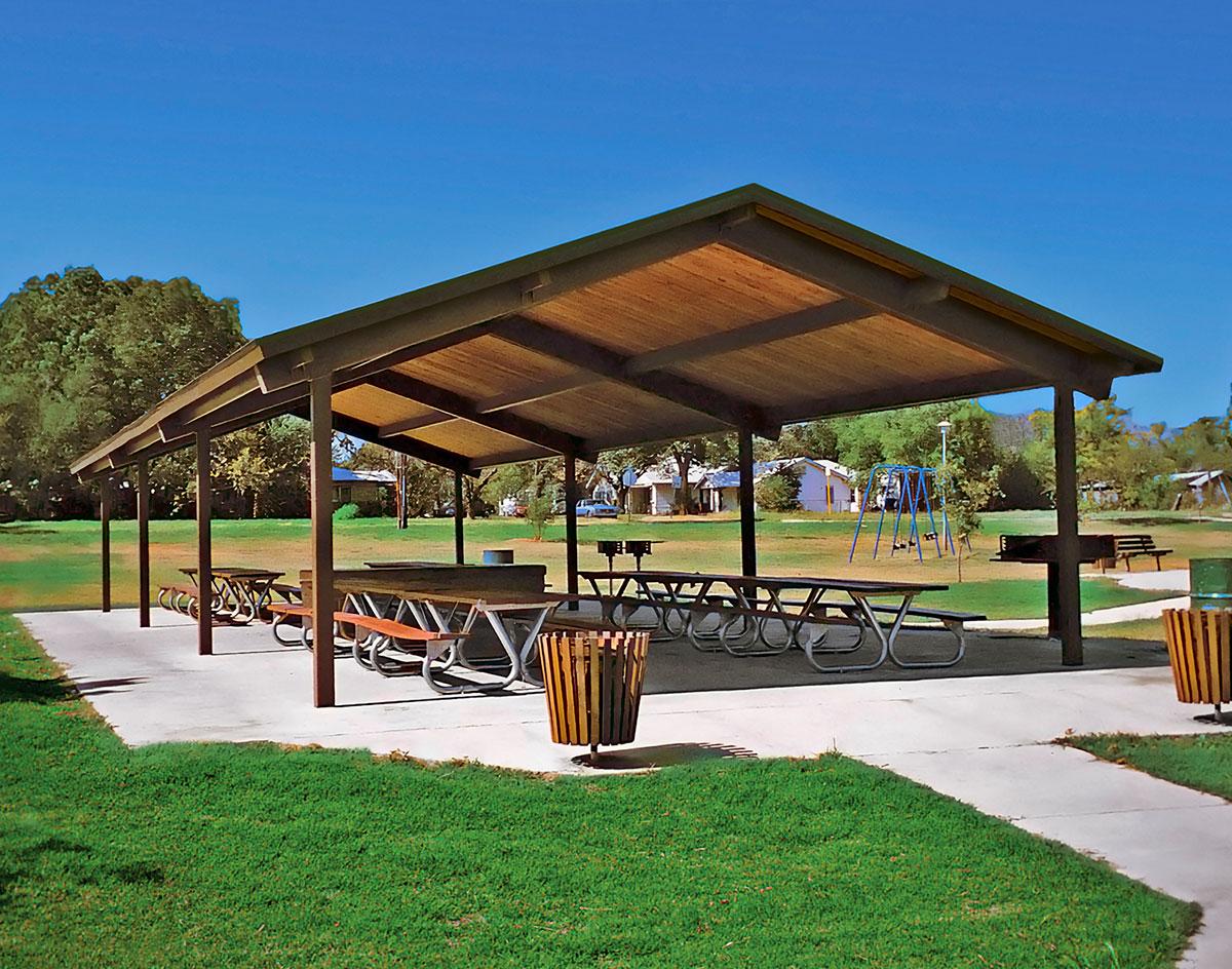 Steel Frame Single Roof Savannah Rectangle Pavilions