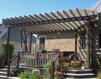 Aluminum Vintage Classic Wall Mount Pergolas | Pergolas by ...