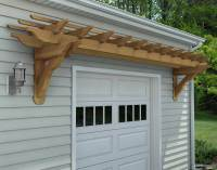 Red Cedar Eyebrow Breeze Wall Mount Pergolas