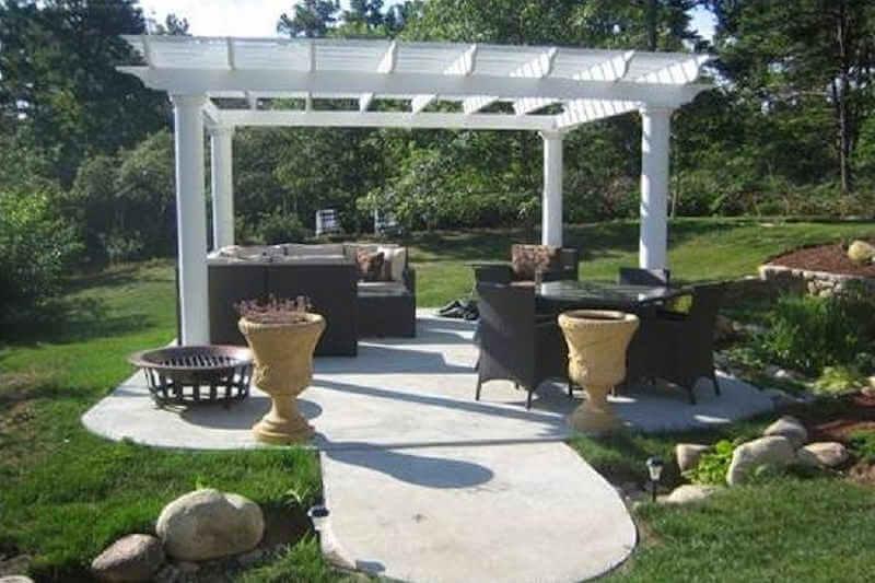 lifetime adirondack chairs herman miller chair germany fiberglass pergola round columns| pergolas | gazebo depot