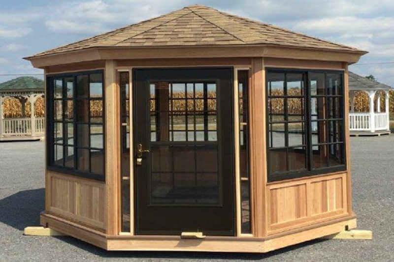 cedar adirondack chairs plans wayfair kitchen gazebo enclosure 1 octagon| enclosures | depot
