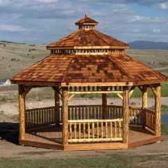 Wood Adirondack Chairs Plans Discount Rocking Log Octagon Gazebo Kit  Gazebos   Depot
