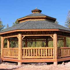 Cedar Adirondack Chairs Plans Hanging Chair Decor Log Octagon Gazebo Kit| Gazebos | Depot