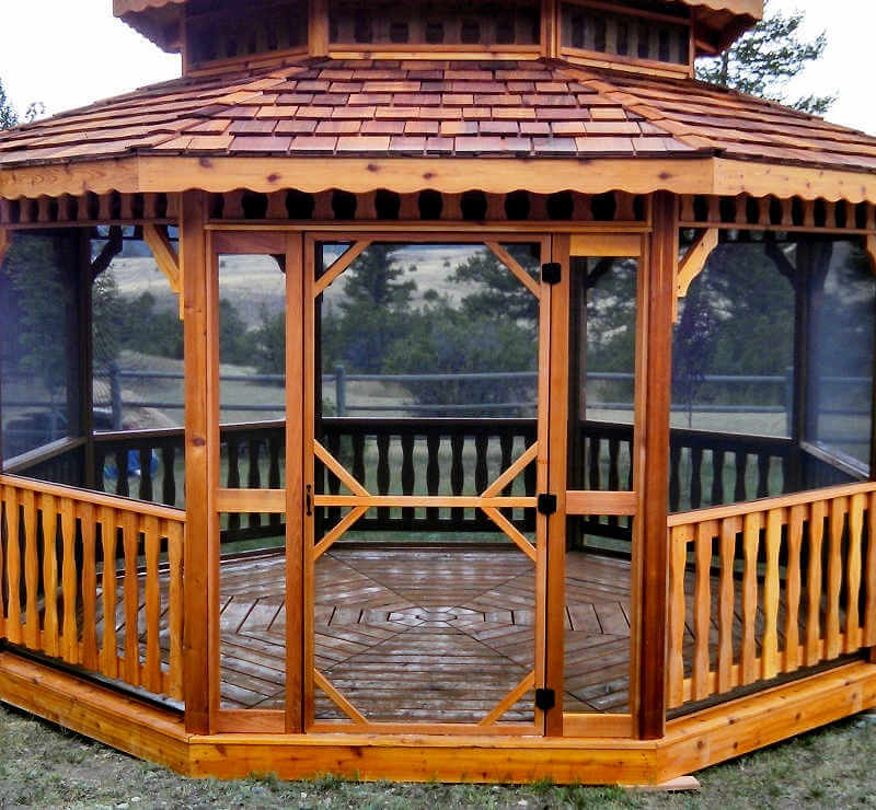 wood adirondack chairs plans party chair covers for sale in pretoria montana octagon gazebos  gazebos   gazebo depot