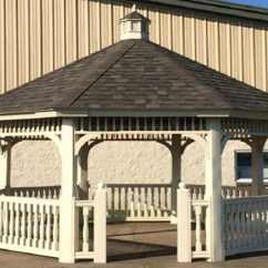 Wood Adirondack Chairs Plans Folding Chair Menards Vinyl Octagon Standard  Gazebos   Gazebo Depot
