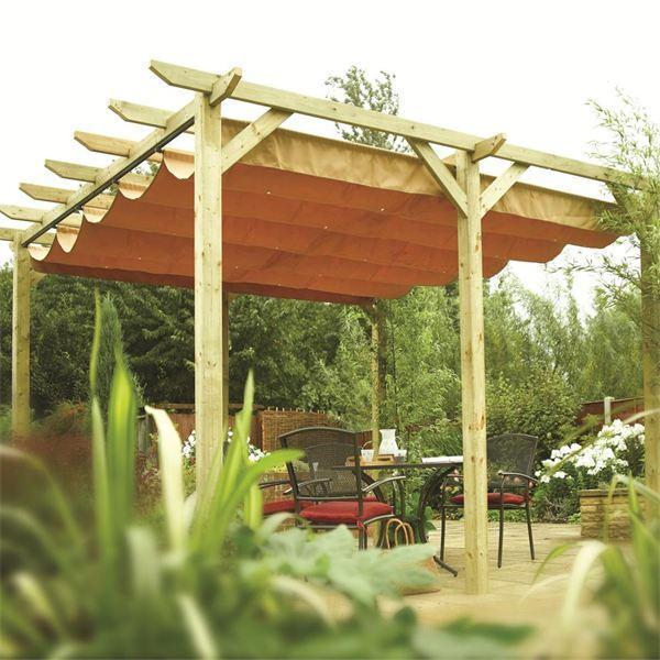 verona wooden pergola garden sun canopy