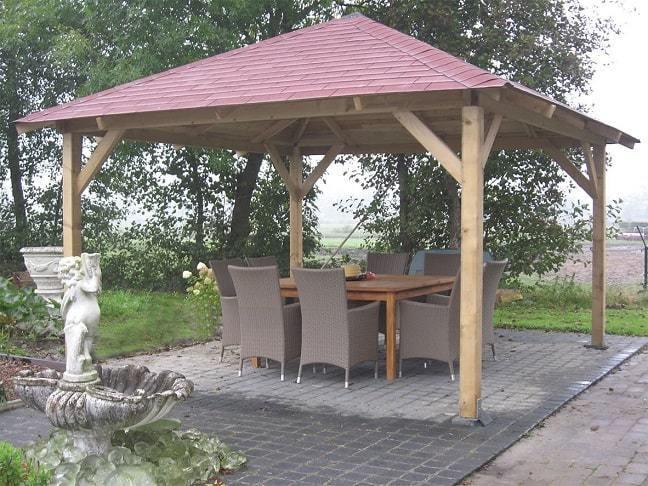 Classico Wooden Gazebo 43m X 43m Garden Canopy Kit Gazebo Direct
