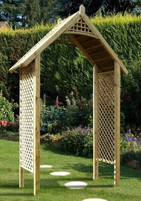 Add Structure With A Wooden Garden Arch Gazebo Direct