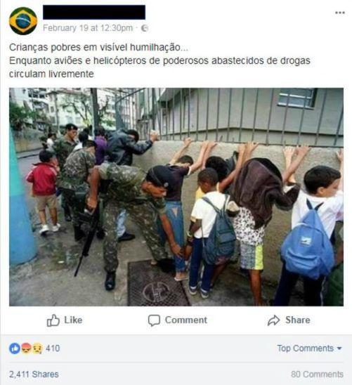 Fake news sobre intervenção federal no RJ