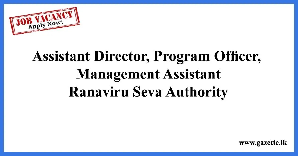 Assistant-Director-Program-Officer-Management-Assistant--Ranaviru-Seva-Authority