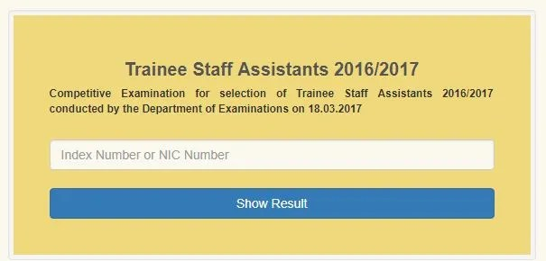 BOC Trainee Staff Assistant Exam Results - Gazette.lk