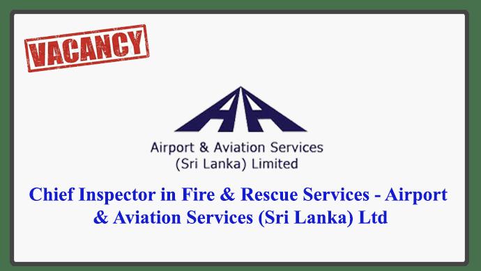 Airport & Aviation Services (Sri Lanka) Ltd Vacancies 2018