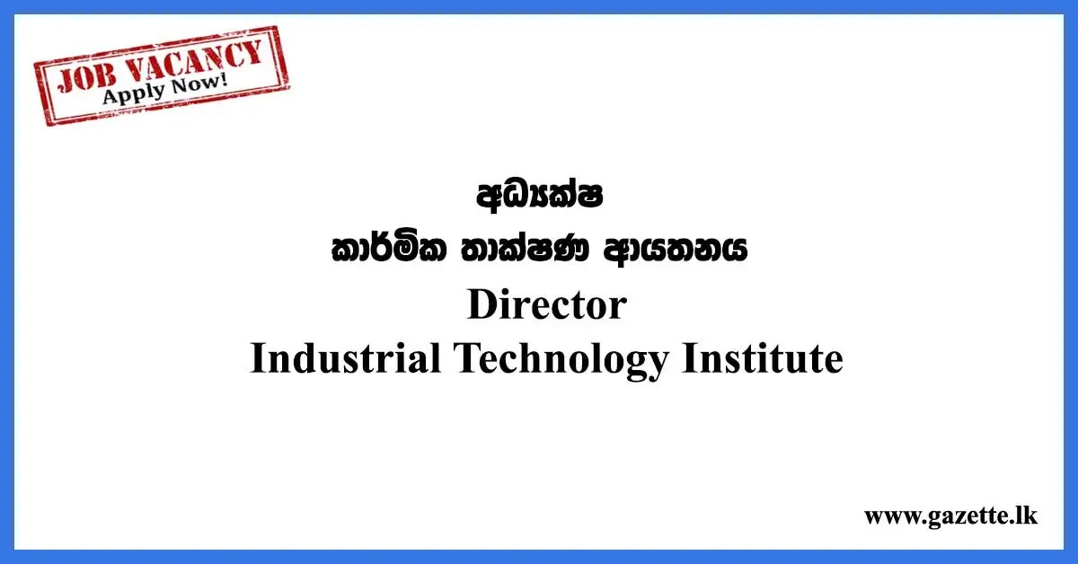 Director – Industrial Technology Institute