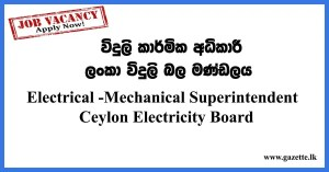Electrical--Mechanical-Superintendent---Ceylon-Electricity-Board