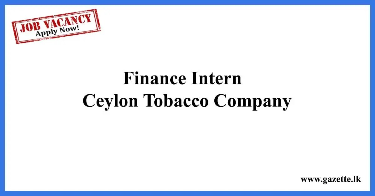 Finance-Intern---Ceylon-Tobacco-Company