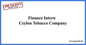 Finance-Intern---Ceylon-Tobacco-Company