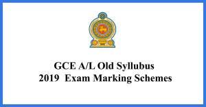 GCE-AL-old-Syllubus-2019--Exam-Marking-Schemes