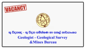 Geologist - Geological Survey & Mines Bureau