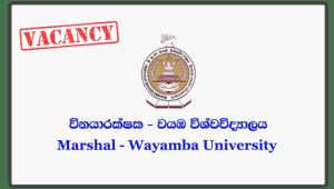 Marshal - Wayamba University