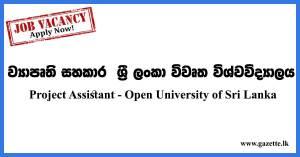 Project-Assistant---Open-University-of-Sri-Lanka