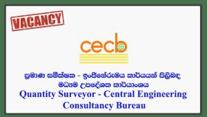 Quantity Surveyor - Central Engineering Consultancy Bureau