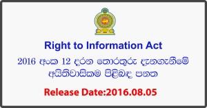 Right to Information Act Sri Lanka