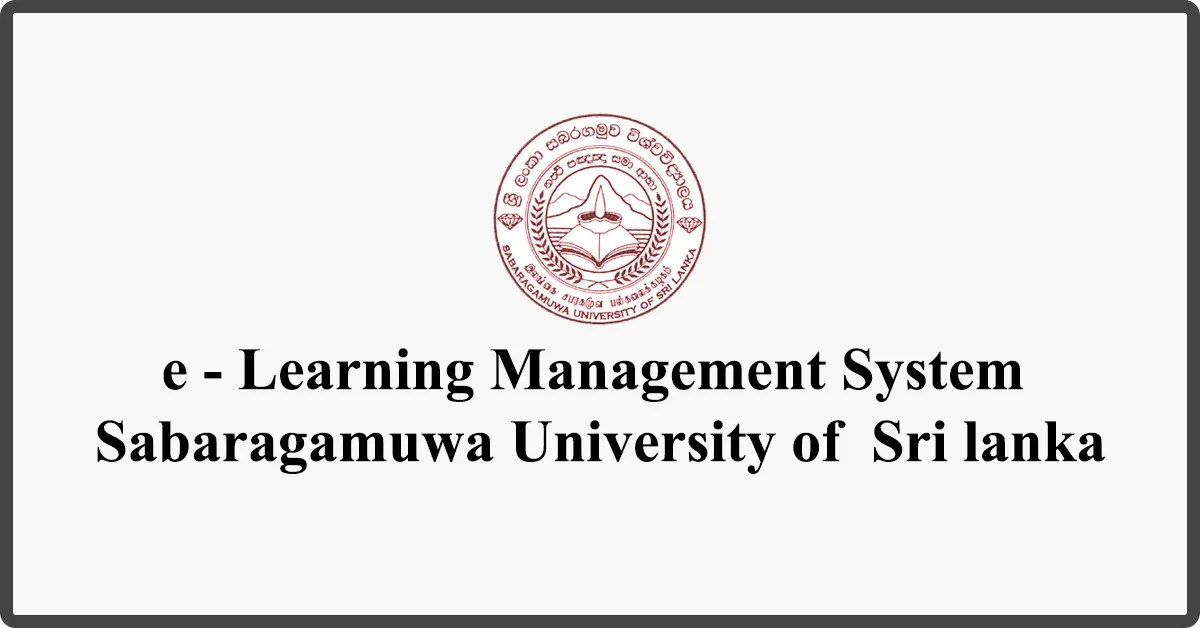e - Learning Management System - Sabaragamuwa University of Sri lanka
