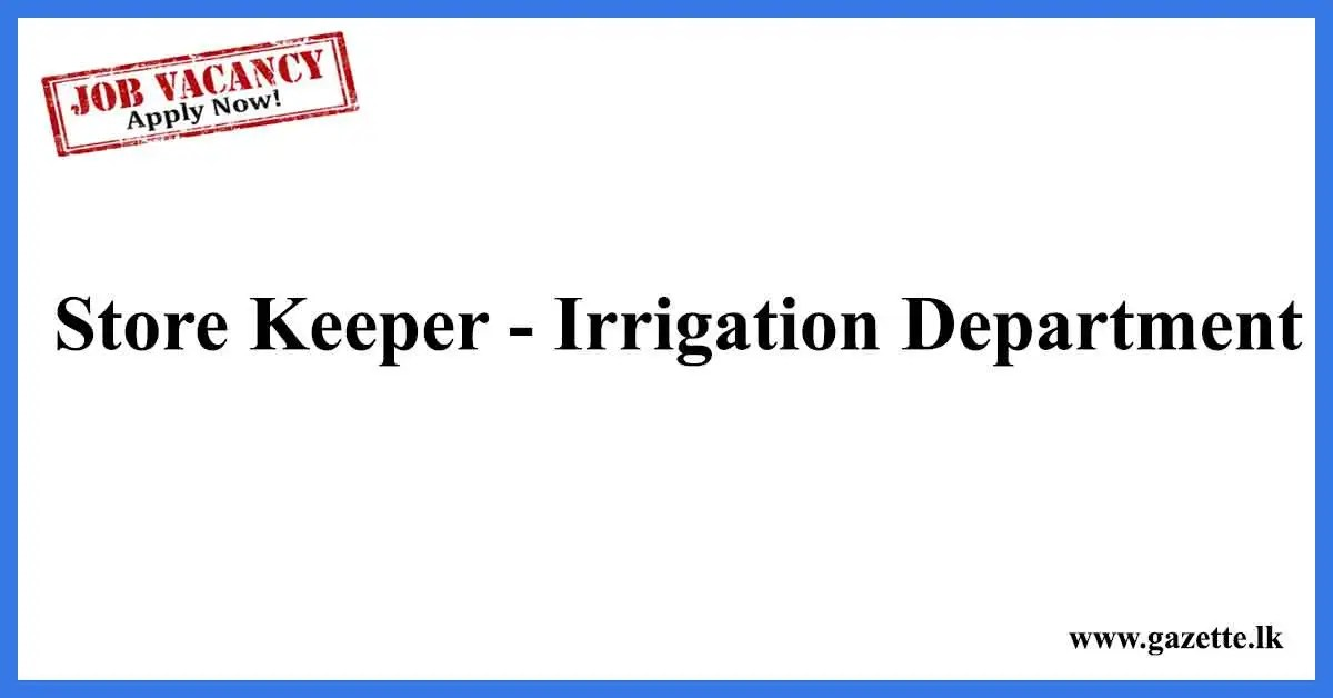 Store-Keeper-Irrigation-Department