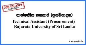 Technical-Assistant-(Procurement)---Rajarata-University-of-Sri-Lanka