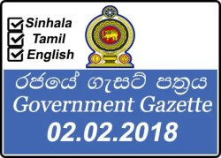 Government Gazette February 02 2018